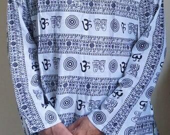 Om Mandala Long Sleeve Men's Shirt