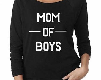 Mom of Boys shirt, Boy Mom shirt, Boy Mama Shirt, Blessed mama, mom life, new mom gift, 3/4 Sleeve