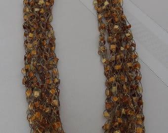 Butterum Ladder Yarn Crocheted Necklace