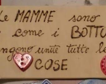 Plaque Wood Phrase Mom