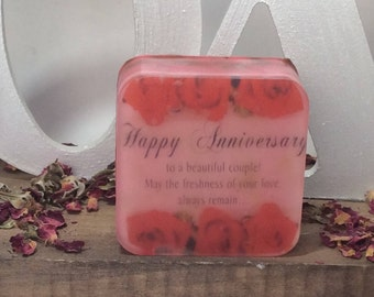 Handmade organic picture bar soap, happy birthday picture soap