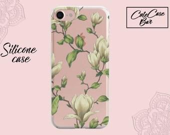 iPhone 8 Case iPhone X Case iPhone 7 Case Magnolia Clear Case iPhone 7 Plus Clear Case iPhone 8 Plus Case Galaxy S8 Plus Case Galaxy S7 Edge