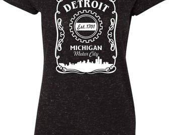 Detroit Motor City Est. 1701 Sparkle Tee