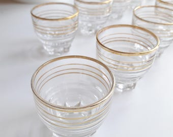 french vintage set of 10 shot glasses from the 60s