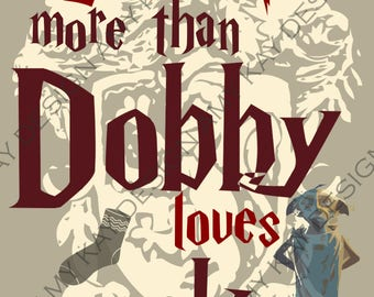 Valentine's Day Harry Potter digital download print