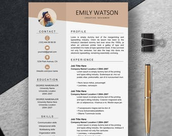 Resume Template, Professional Resume Template Instant Download, Creative Resume Template For Word, Resume with cover letter