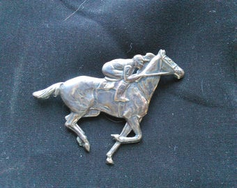 Sterling Racehorse Pin