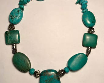 Chunky Vintage Turquoise Necklace