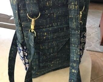 Handbag, The Shivan Bag, purse with gold hardware
