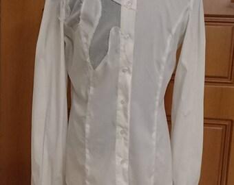 GF FERRE Woman's White Shirt Size M 100% Authentic.
