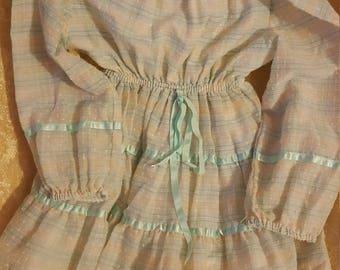 Vintage Youngland light green and orange dress.