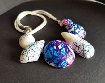 Contemporary Set of Necklace and Earrings