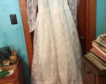 late 80's Vintage Wedding Dress
