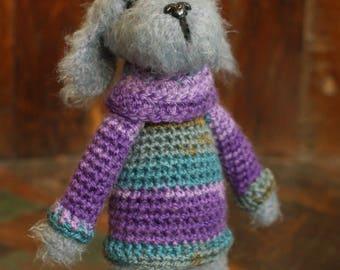 Dog, fluffy dog, soft toy, toy dog, knitted dog, knitted toy