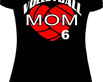 Volleyball Mom Shirt Custom Black Volleyball Mom Volleyball mom Shirt sports mom sport mom women shirt