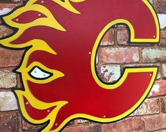 Calgary Flames Metal Art