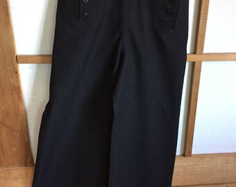 Vintage Navy Wide Leg Trousers