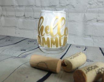 HELLO SUMMER Small Wine Glass