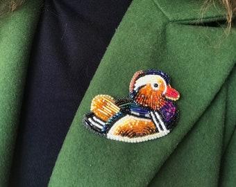 Brooch Mandarin duck