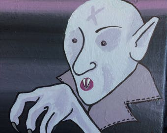 Nosferatu Wrapped Canvas Painting