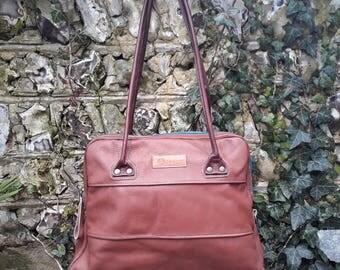 Leather Shoulder Bag / Handbag -  100% Handmade from recycled leather