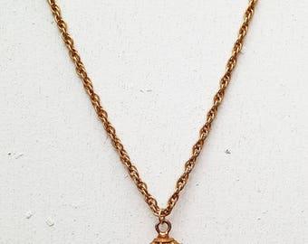 Tiny Vintage Hourglass Sand Timer Pendant Necklace