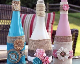 Custom made in Italy decorative bottles