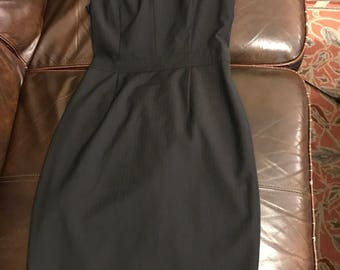French Connection Classic Black Sheath Dress Size 2