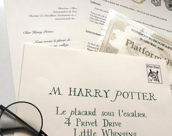 Customized Hogwarts - French - inspired by Harry Potter acceptance letter
