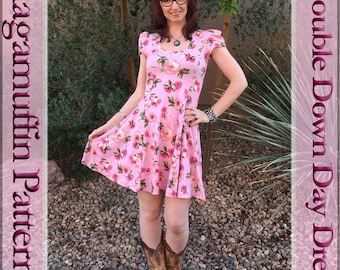 Double down Day dress by Ragamuffin Patterns