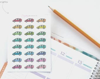 Car Planner Stickers, Repair, Gas, Repayments, Payment, Travel Stickers, Road Trip, Vacation, Carwash, Work, Registration TRV3