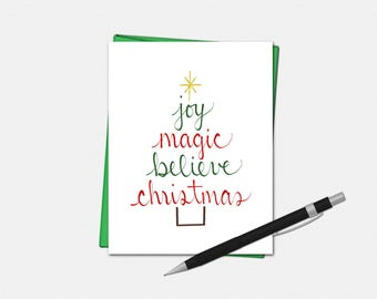 Christmas Tree Blessings Cards - Christmas Card - Xmas Cards - Christmas Cards