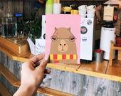 Harry Capybara postcard, 4.1''x5.8''