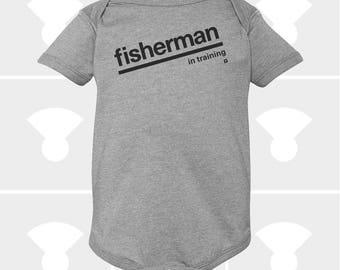Fisherman In Training - Baby Onesie