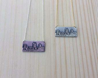 Cleveland Ohio skyline necklace | Cleveland skyline pendant | jewelry for her