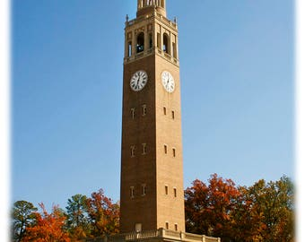 UNC-Chapel Hill Bell Tower in Autumn