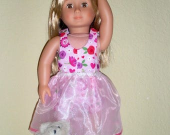 Pink Dance Outfit---Girl doll dress---doll clothes---dance dress