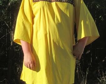 T-tunic yellow medieval/renaissance re enactors cos play