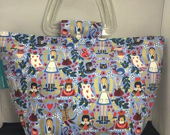 Tote Bag - Alice In Wonderland Blue