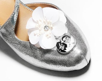 Personalized Bridal Shoe Charms, Wedding Shoe Charms, Custom Charm, Memorial Shoe Charm, Something Blue, Picture Photo Charms, Photo Charms