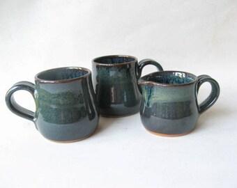 Cortado Cups 5 oz. Set of 2, Espresso Cups, Ceramic Cups, Pottery Cups
