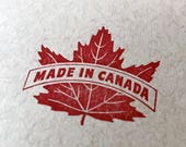 """With Glowing Hearts, eh! 4""""x6"""" Handmade Letterpress Canadian Notebook"""