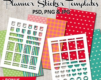 Planner stickers templates commercial use / Erin condren life planner blank template download / Valentine's day
