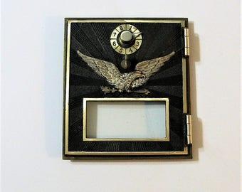 1906 Combination Lock  Flying Eagle Post Office Box Door