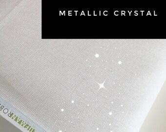 Wedding Decor, Linen Blend, Cotton Linen, Metallic fabric, Sparkle Fabric, Essex Linen White, Apparel, Metallic Essex in Crystal
