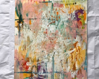 Wonder, Mixed media abstract painting by Mystele