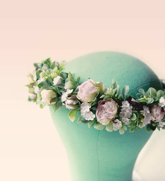Lavender floral hair crown