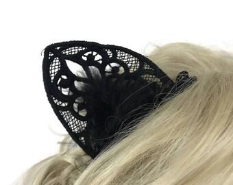Black Cat Cosplay Ears - Custom Made to Order!