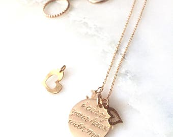 personalized yours OR (as my sample necklace)i carry your heart with me -Inspired by the beautiful poem by E E Cummings - gold filled SIMAG