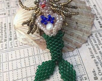 Beaded Mermaid Pendant